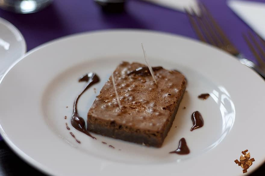 Brownie de chocolate con Nutella